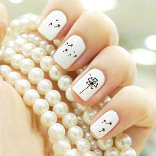 Dandelion Nail Designs