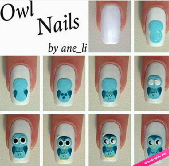 Owl Nail Art Designs