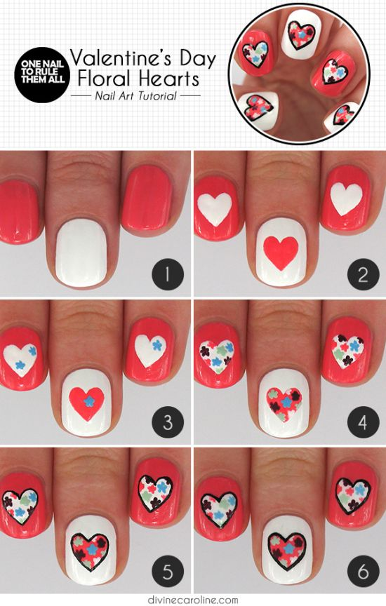 25 Easy Step By Nail Art Tutorials