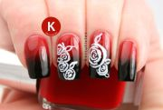 creative rose nails design