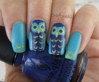 21 Rocking Owl Nail Art Tutorials   Nail Design Ideaz