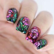 trendy glitter nail art design
