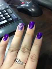 amazing purple nail design