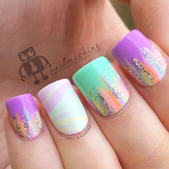 Glitter Nail Art Designs