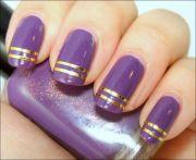 amazing purple nail design