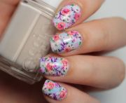 stylish pastel nail design