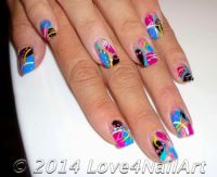 35 Abstract Stone And Rhinestone Nail Art | Nail Design Ideaz