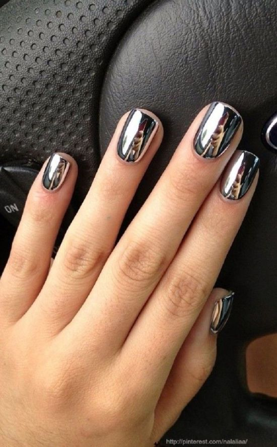 Beautiful Mirror Metallic Nails