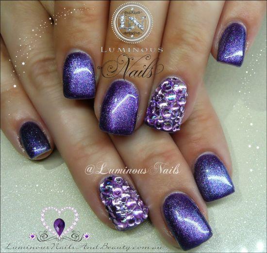 Purple Chrome Nail Art: 35 Gorgeous Metallic Nail Polish Designs
