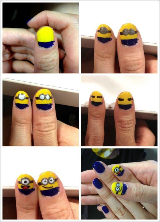 Minion Nail Designs