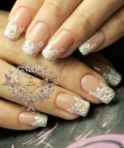 elegant wedding nail design