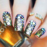 40 Sophisticated Mermaid Nail Art Ideas | Nail Design Ideaz