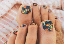 Tropical Toe Nail Art
