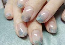Watercolor Nail Tip Design