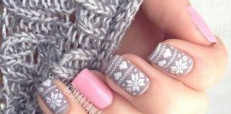 Gray Tribal Nail Design