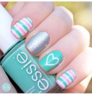 cute turquoise nails nail