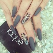 attractive gray nail design