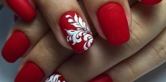 Beautiful Ornate Red Nails