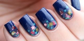 blue-flower-spring-nail-designs