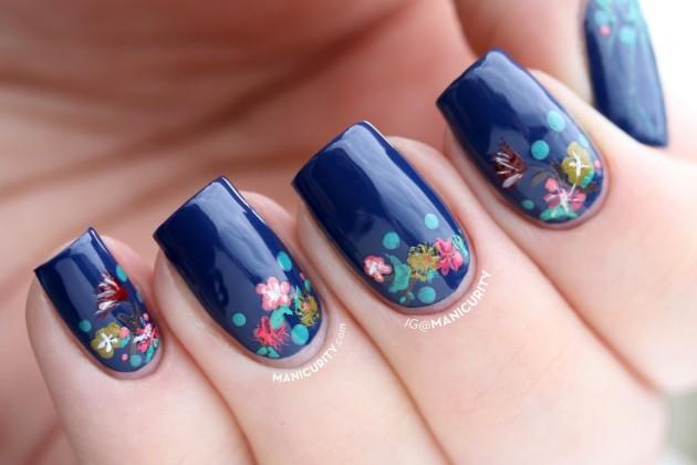 Strips Flower Spring Nail Design Chevron Stripes Heart - Spring Nail Design Ideas - Interior Design
