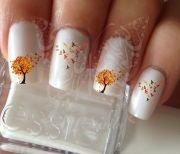 golden autumn nails nail design