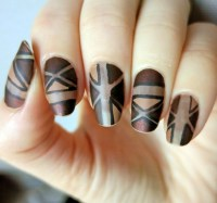 32 Exquisite Brown Nail Designs | Nail Design Ideaz - Page 16