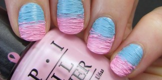 pink and blue nails