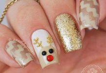 Studded Reindeer Nail Art