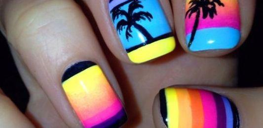 Neon Summer Nail Art