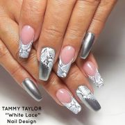 sophisticated lace nail design