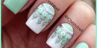 Chic Mandala Art On Mint Green Nails