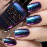 shiny metallic nail polish