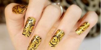 Shimmering Ornate Nails