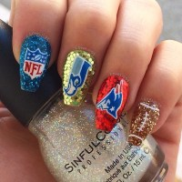 30 Football Nail Designs For Football Lovers | Nail Design ...