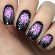 festive firework nail art