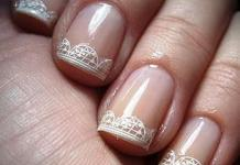 Negative Space Lace Nail Design