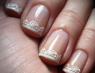 Negative Space Lace Nail Design