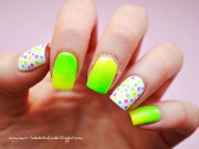 stand neon green nails