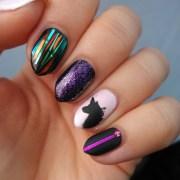 mismatched nail art manicures
