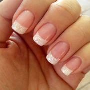 classy pearl tip nails nail