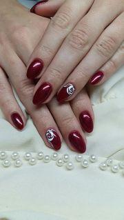 elegant red nails nail design