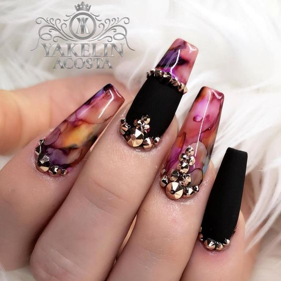 30 Glam Party Nails For Groovy PartyGoers  Nail Design