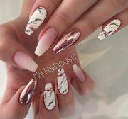 rose gold nail art ideas