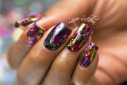 foil nail design spice