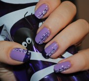 purple nail design and art