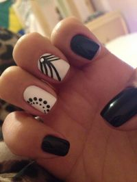 32 Black and White Nail Designs and Art