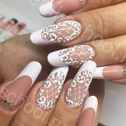 popular lace nail design