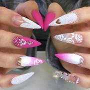 stiletto nail design 2017