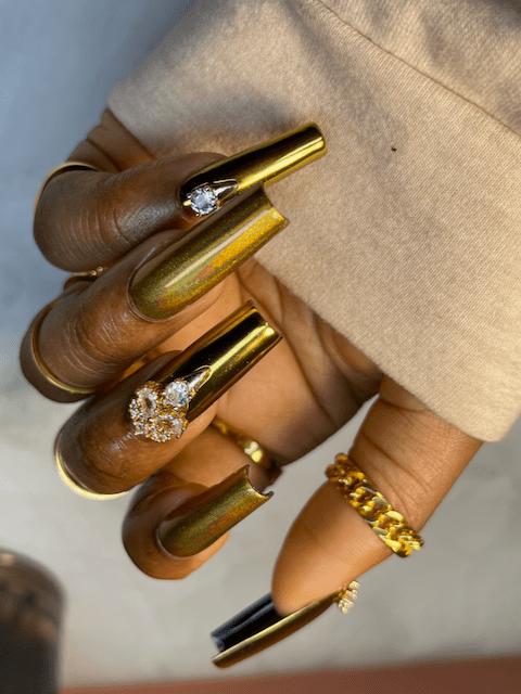 golden presson nails