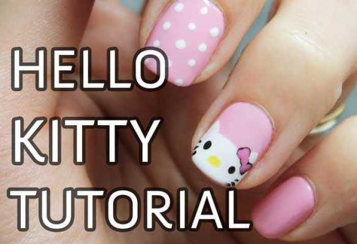 Uñas Decoradas Con Hello Kitty Paso A Paso Nailistas Productos